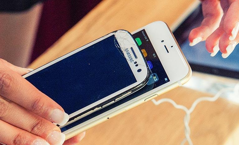 Kampf zwischen Apple und Samsung