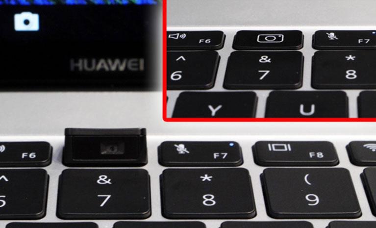 Versteckte WebCam in der Tastatur
