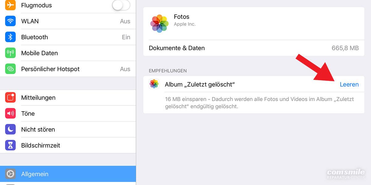 Vollen iPad-Speicher aufräumen
