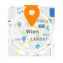 Ausschnitt der Map von Wien