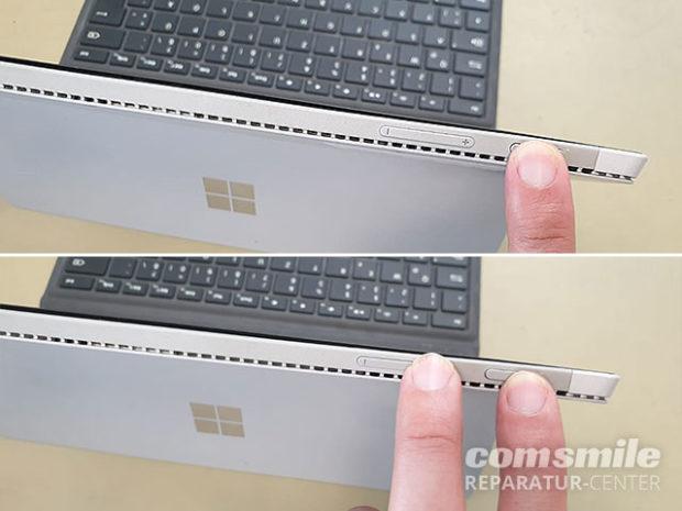 Surface startet nicht: Neustart erzwingen