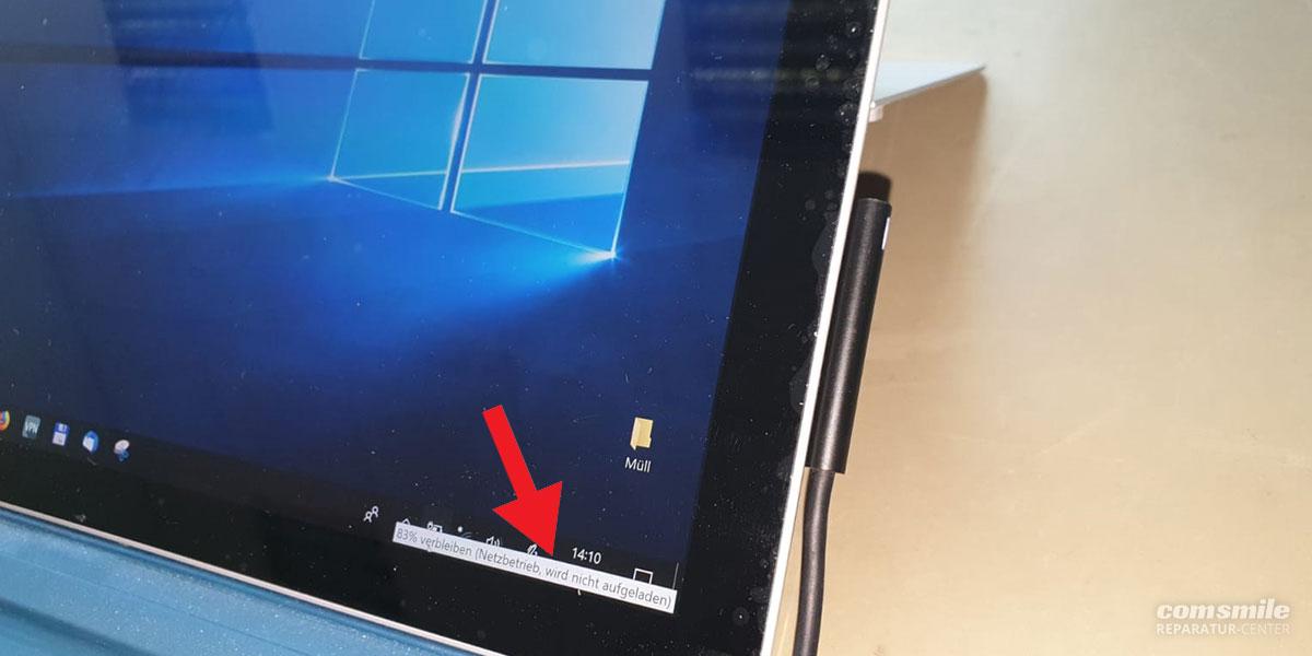 Surface lädt nicht: Netzbetrieb, wird nicht aufgeladen