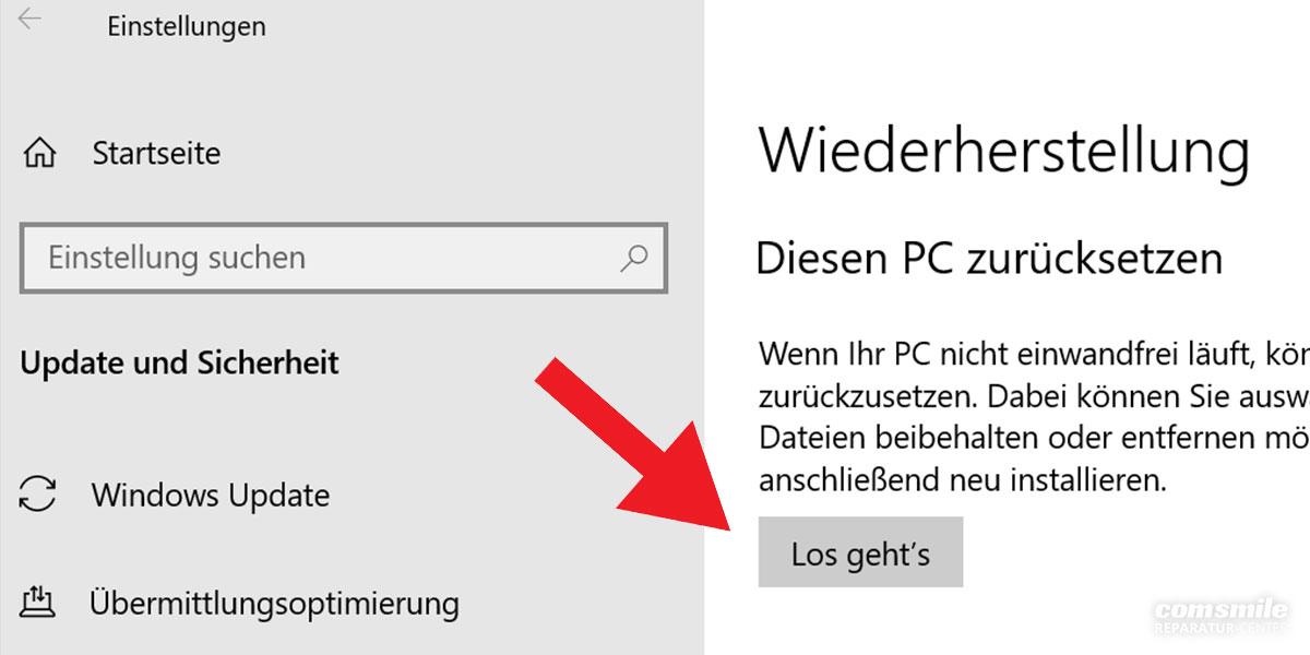 Surface hängt: Wiederherstellung Betriebssystem