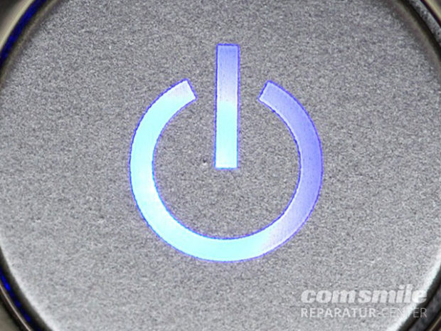 Laptop hängt: Power Button