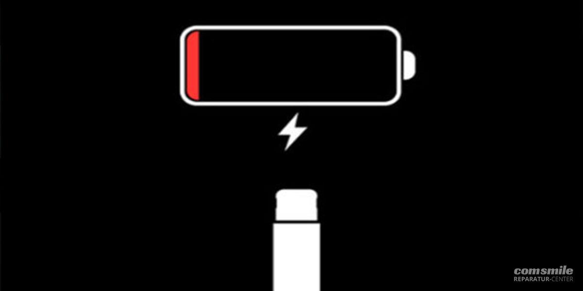 Batterieanzeige wenn das iPad nicht lädt