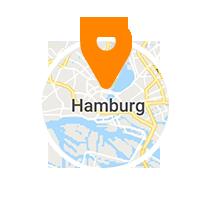 Ausschnitt der Map von Hamburg