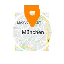 Ausschnitt der Map von München