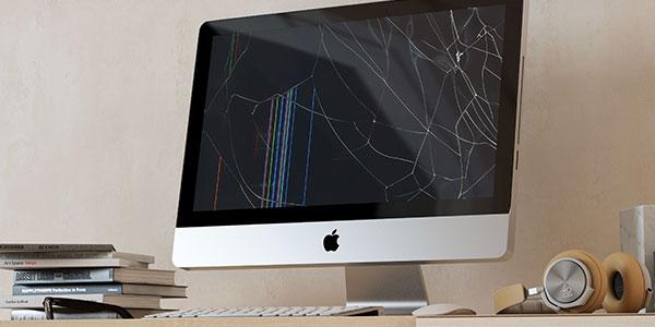 iMac Display kaputt auf Tisch