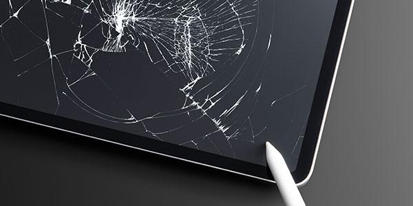 gebrochener Tablet Bildschirm